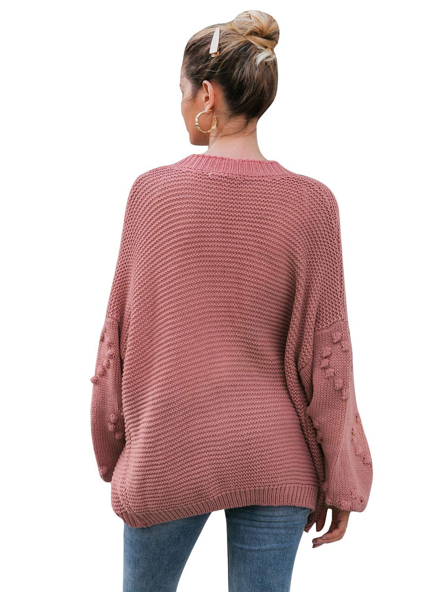 Hearts Oversized Cardigan - Rose - Daily Chic