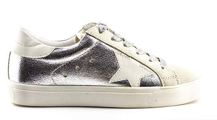 Shine Super Star Sneakers - Metallic Silver *PRE ORDER SHIPS 9/25* - Daily Chic