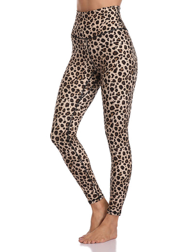 Leopard Print High Waisted Full-Length Leggings - Multi - Daily Chic