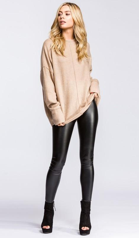 dc664599535b1b Zoe Leather Look Leggings - Black RESTOCKED! – Daily Chic