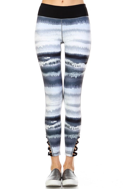 Smokeshow Tie Dye Leggings - Grey + Black - Daily Chic
