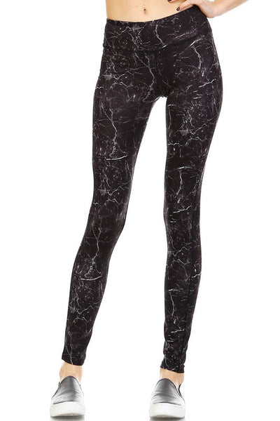 Lightening Strikes Yoga Pants - Print - Daily Chic