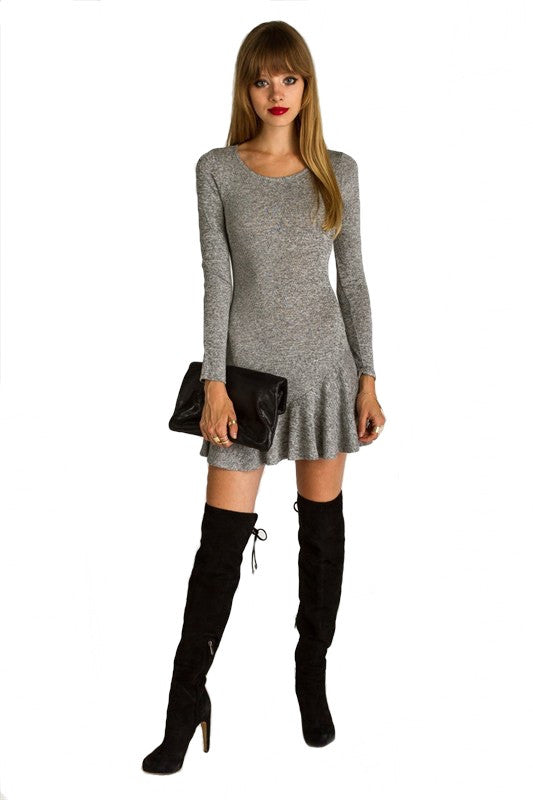 Kendall Fit & Flare Mini Dress - Grey