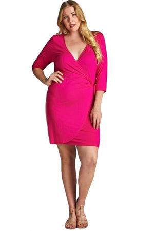 Of My Dreams Wrap Dress - Pink