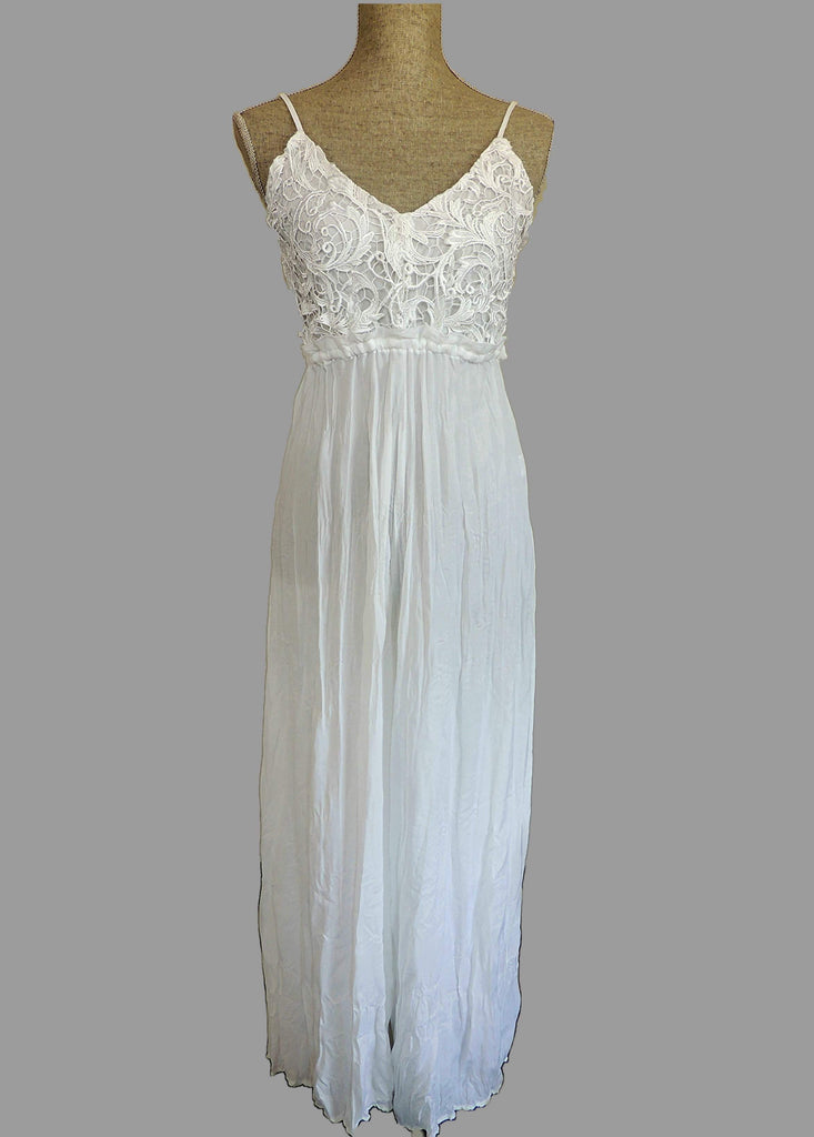 Evanescence Palazzo Jumpsuit- White