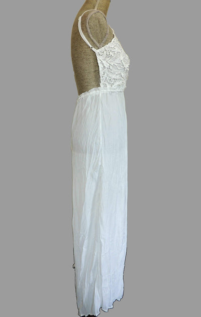 Evanescence Palazzo Jumpsuit- White - Daily Chic