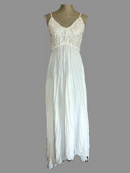Evelyn Lace Accent Maxi - Ivory