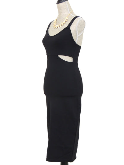 Show the Way Cutout Midi Dress - Black - Daily Chic