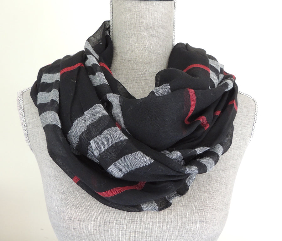 Aspen Infinity Scarf- Black + Multi - Daily Chic