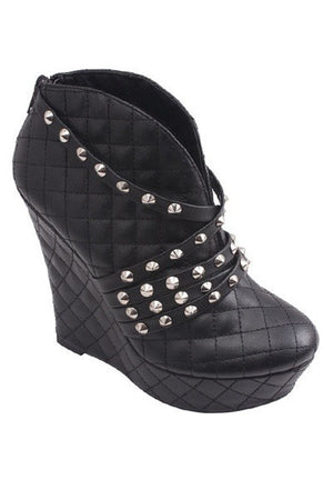 Roxana Studded Booties - Black - Daily Chic