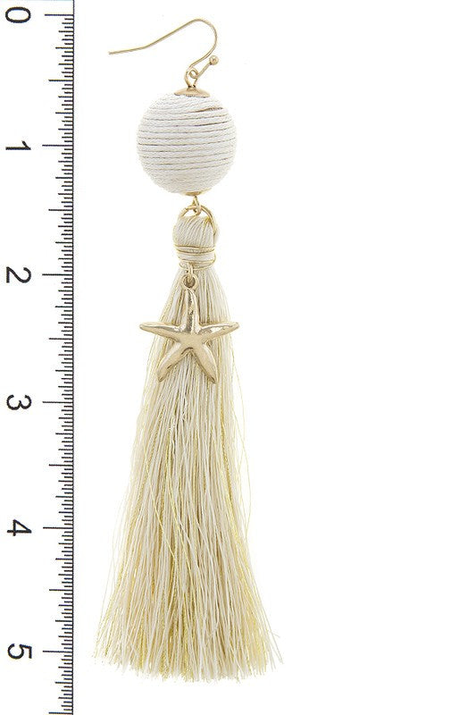 Kingdom Under The Sea Tassel Earrings- Ivory - Daily Chic