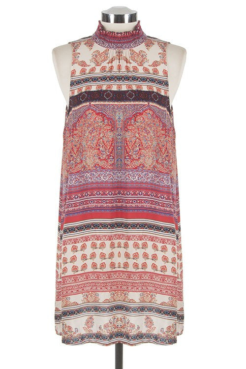 Marrakesh Print Shift Dress - Multi