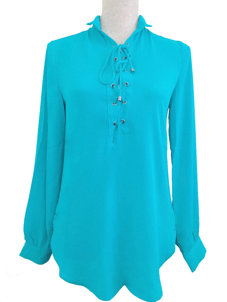 Oceanside Tie Up Blouse - Panama