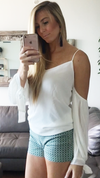 Hermosa Open Shoulder Blouse - White - Daily Chic