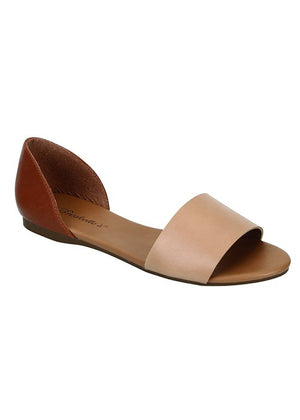 Brigit Open Toe Flats - Natural - Daily Chic