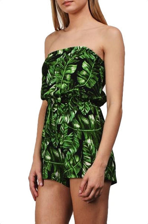 Isle of Palms Print Romper - Black + Multi - Daily Chic