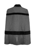 Winnipeg Wonder Cape - Black + Charcoal