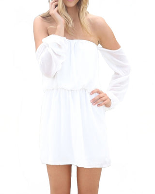 Wisteria Lane Off the Shoulder Dress - Ivory - Daily Chic