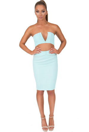 South Beach Two Piece Set - Mint - Daily Chic