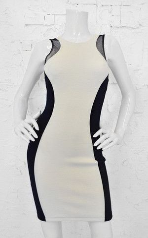 Workin' It Overtime Panel Dress - White + Black - Daily Chic