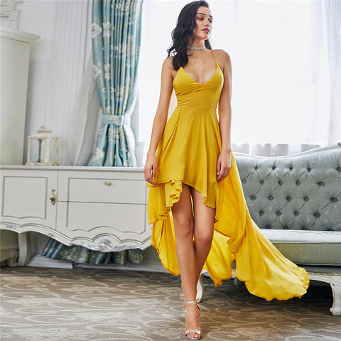 0a974e43275 Yelena High Low Maxi Dress - Yellow – Daily Chic