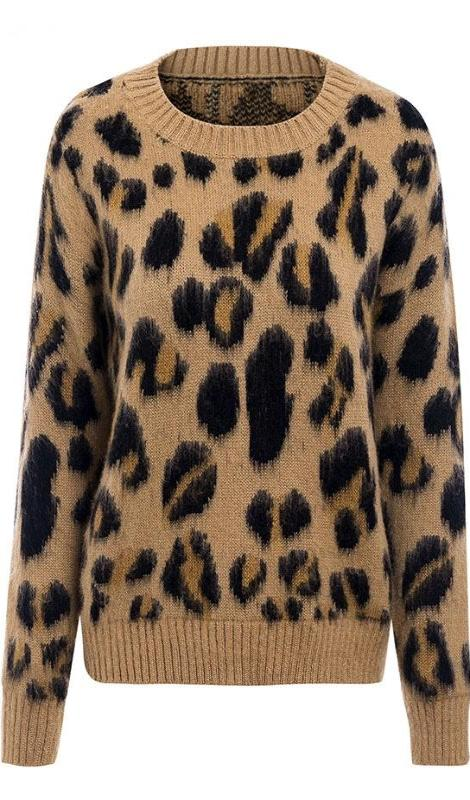 Lillian Leopard Print Sweater - Multi - Daily Chic