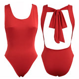 Alexa Tie Back Bodysuit - Pink or Red - Daily Chic