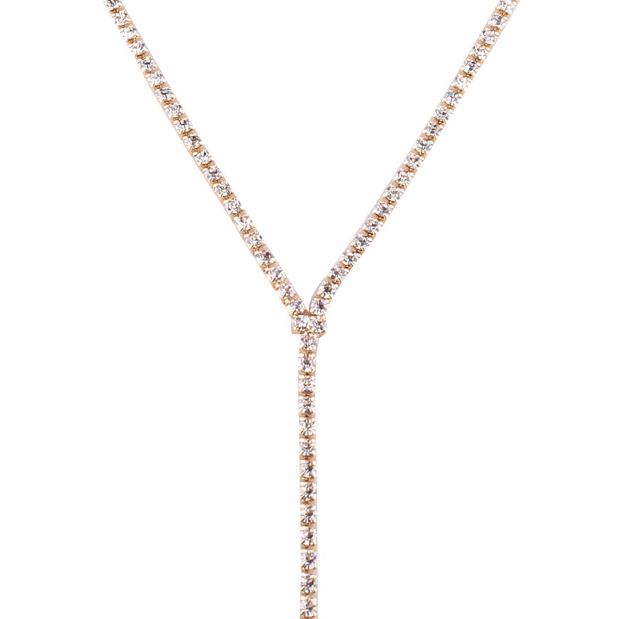 Jelena Crystal Drop & Choker Necklace - Gold, Silver or Black - Daily Chic