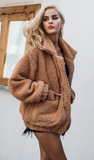 Hunter Teddy Jacket - Camel, Olive, Rust or Black - Daily Chic