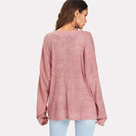 Raya Eyelash Lace Sweater Top - Blush or Grey