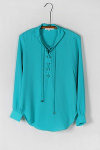 Oceanside Tie Up Blouse - Panama - Daily Chic