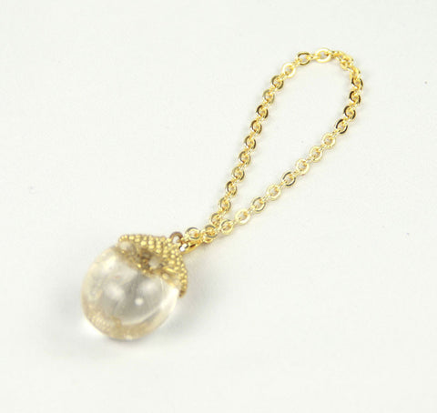 Peridot Faceted Crystal Ball Charm