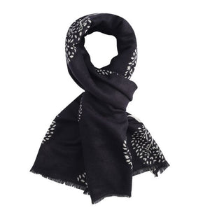 Reversible Mulberry Tree Scarf in Black & Cream