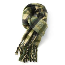 Load image into Gallery viewer, Tartan Fluffy Tassle Scarf