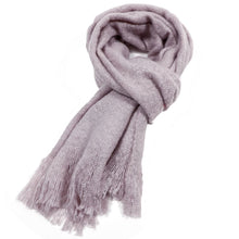 Load image into Gallery viewer, Plain Fluffy Tassle Scarf