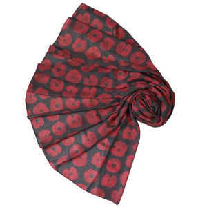 Washed Out Poppy Scarf in Black