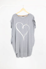 Load image into Gallery viewer, Oversized Love Heart Top with Heart Detail