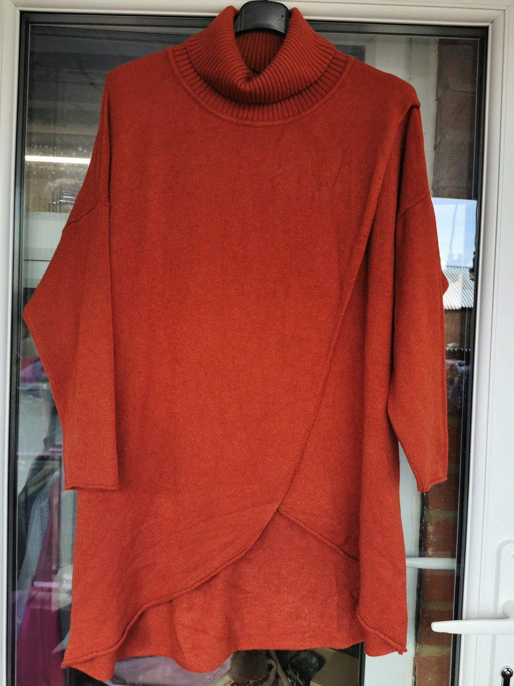 Roll Neck Crossover Jumper