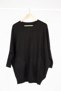 Plait Back Pocket Front Jumper