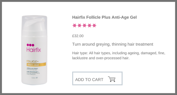 Hairfix Anti-Age Gel with caffeine for thinning, greying, ageing hair