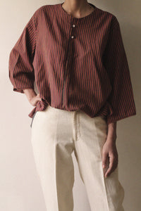 Loose Fit Buttoned Shirt with Sleeve Detail