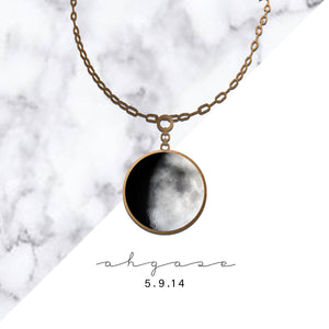 Ahgase Birthday Moon Necklace