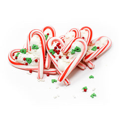 Candy Cane Hearts (6 Count)