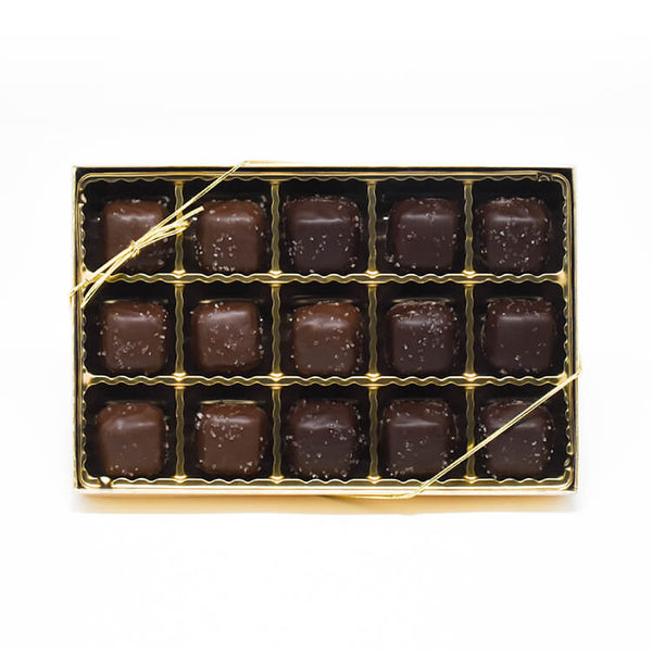Chocolate Caramels with Sea Salt Gift Box (15 Count)