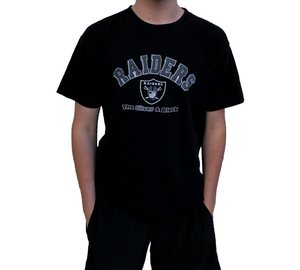 Raiders 'Breaking out the Black Hole' Tee Black