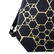 Black Attack Blase Gold fashion backpack handmade