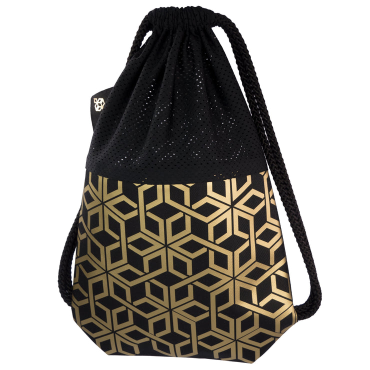 Black Attack Dry Gold Star Gold fashion backpack handmade