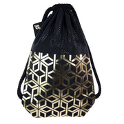 Black Attack Gold Star Gold fashion backpack handmade