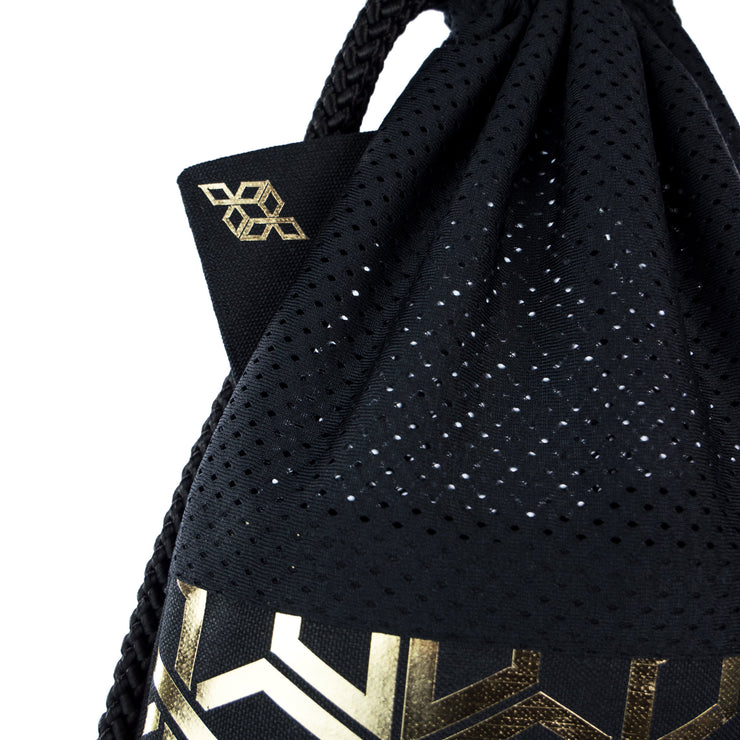 Black Attack Star Gold fashion backpack handmade
