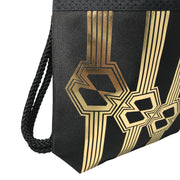 Black Attack Techno Zug Gold fashion backpack handmade